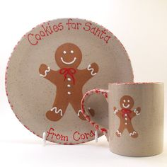 Personalized Cookies for Santa Plate AND Mug