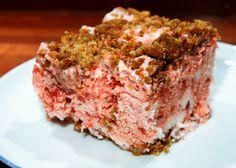 frozen crumble strawberry cake