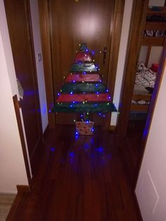 Wood Christmas Tree with light