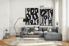 Set of 2 Flower Painting Large Canvas Wall Art Set of 2 image 5