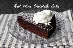 Red Wine Chocolate Cake | 25 Delicious Dishes You Can Make With Leftover Wine