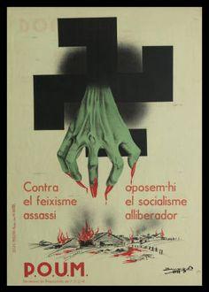 P.O.U.M. : Contra el feixisme assassí oposem-hi el socialisme alliberador :: Cartells (Biblioteca de Catalunya)