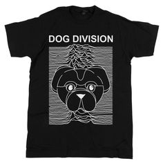 """Our """"Dog Division"""" tee is the perfect shirt for you! Great way to express your love of dogs, music, and astronomy?"""
