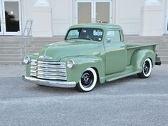 This 1953 Chevrolet Bow Tie 3100 was found in the Virginia mountains, and the owner Joey Todd purchased it because it was similar to his father-in-law's truck.