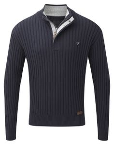Vedoneire - Mens Half Zip Rib Jumper (4304) Navy blue, £54.99  #Vedoneire #Menswear #SS14 #Apparel #MensFashion #Fashion #Ireland #Irish #IrishBrands (http://www.vedoneire.co.uk/mens-half-zip-rib-jumper-4304-navy-blue/)