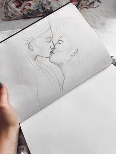 #drawing #kiss #sketchbook