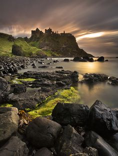 The ruins of Dunluce Castle. One place I will be hiking in Northern Ireland