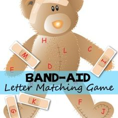 Band-Aid Letter Matching Bear FREE PRINTABLE