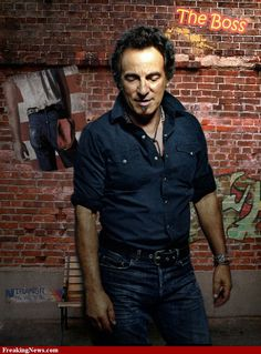 The Boss Bruce Springsteen~Without a doubt, the older he gets the better looking he gets!