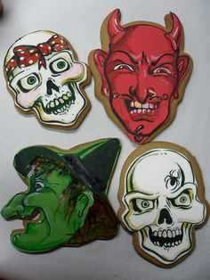 #Scary #Halloween #Cookies via #TheCookieCutterCompany