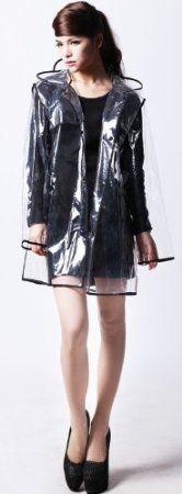 Amazon.com: City Block Bearcat Transparent with Colorful Edge Fashion Raincoat (Blue): Sports & Outdoors