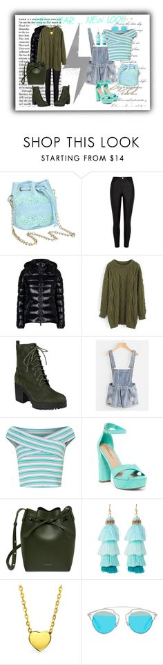 """""""NY NL!!!"""" by nejry ❤ liked on Polyvore featuring River Island, Moncler, Chicwish, Miss Selfridge, Breckelle's, Panacea, Bling Jewelry, Christian Dior, look and New"""
