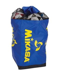 The Mikasa Draw String Ball duffle bag holds 16 volleyballs and makes it easy for you and your team to travel. #Volleyball #Accessories #BallBag #Sports #Athletics #Equipment #Travel #Team