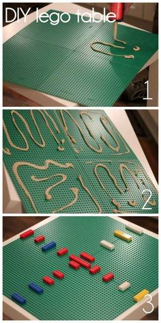 Transform an ordinary LACK table into a lego table.