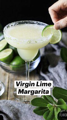Easy Mocktail Recipes, Drink Recipes Nonalcoholic, Non Alcoholic Cocktails, Alcohol Drink Recipes, Cocktail Recipes, Easy Mocktails, Non Alcoholic Margarita, Summer Drink Recipes, Virgin Drinks