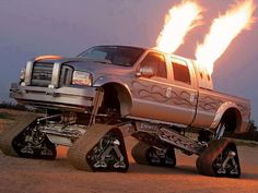 Truck with Tracks. ... too badass not to pin