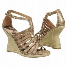 SALE - Sam Edelman Annabel Wedge Heels Womens Gold Leather - Was $150.00 - SAVE $8.00. BUY Now - ONLY $142.50.