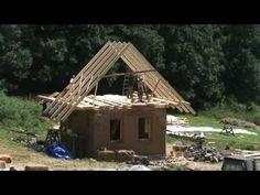 ▶ Strawbale House / Slamený dom (Sekier, Zaježka ecovillage, Slovakia) - YouTube