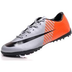 http://www.asneakers4u.com Cheap New style Nike Mercurial Vapor Superfly II Victory TF Soccer Shoes Football Boots In Silver Orange Blackout of stock