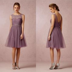 Free shipping, $73.62/Piece:buy wholesale Soft Plum Illusion Crew Neck Bridesmaid Dresses Short Soft Tulle Knee-length Wedding Party Dresses For Junior Bridesmaid Girl Bridal Party of Yes,2014 Spring Summer,Available,Model Pictures,Yes from DHgate.com, get worldwide delivery and buyer protection service.