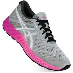 ASICS fuzeX Lyte Women's Running Shoes ($80) ❤ liked on Polyvore featuring shoes, athletic shoes, med grey, athletic running shoes, grey shoes, gray shoes, synthetic shoes and laced shoes