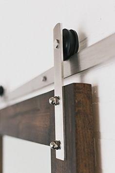 $159.99 Ready To Ship 6ft Stainless Steel Modern Barn Door Hardware Artisan  Hardware Http: Part 67