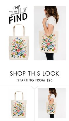 """""""Daily Find: Rifle Paper Co. Bag"""" by polyvore-editorial ❤ liked on Polyvore featuring RIFLE and DailyFind"""