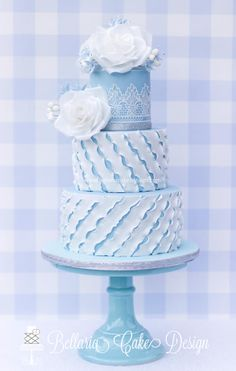Something blue - Cake by Bellaria Cakes Design (Riany Clement)