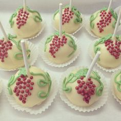 Cake Pops For A Wine Themed Shower Winethemedfavors Winecakepops Wineryweddings Wineryparties