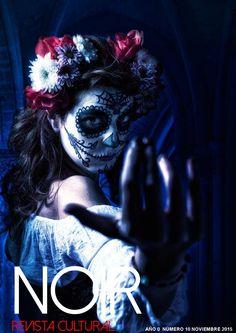 Day of the Dead La Catrina Viviam Kerr model Day Of The Dead, Sugar Skull, Halloween Face Makeup, Mexico, Joker, Fictional Characters, Magazine, Dark, La Catrina