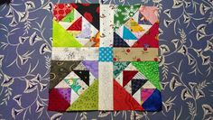 "Free Wild and Goosey block (3"") by Bonnie Hunter and Quiltmaker magazine."