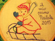 LA DIESSE DEL '67 #hoop_art #vintage #embroidery #broderie #natale #punto_erba #punto_pieno #50s