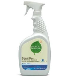 Seventh Generation Natural Glass and Suface Cleaner is plant-derived, non-toxic, biodegradable, and cruelty free. It is so hard to find a streak free glass cleaner and this one is amazing. Safe Cleaning Products, Household Cleaning Tips, Cleaning Hacks, Glass Cleaning, All Natural Cleaners, All Purpose Cleaners, Spring Cleaning, Spray Bottle, Biodegradable Products