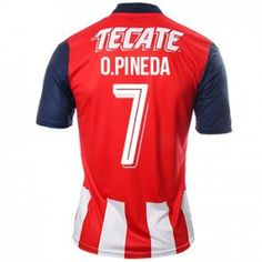 16-17 Chivas Guadalajara CD Cheap Home #7 Pineda Replica Shirt [G00453]