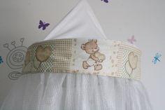 Ciel de lit bébé emnest.fr - atténue les ondes électromagnétiques provenant des wifi, téléphone mobile, babyphone... - nid douillet pour bébé :)