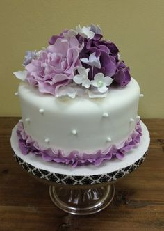 Ombre Lila Peony Cake!!! Wedding shower cake but 2 tiers