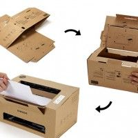 Samsung Invents a Clever Cardboard Printer That Folds Up | Wired Design | Wired.com