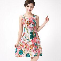 Hot New 2016 verano mujer Vestidos Casual Retro Party Robe Rockabilly 50 s Print Vintage Dress Plus Size Vestidos barato Z3 en Vestidos de Moda y Complementos Mujer en AliExpress.com | Alibaba Group