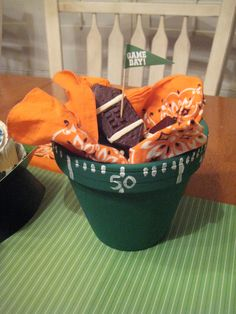 Creative Party Ideas by Cheryl: Football Treats and Tailgating Snack Bowl