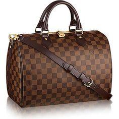 d2b22cdd64044f Louis Vuitton Damier Ebene Canvas Speedy Bandouliere 30 N41367 Canvas  Crossbody Bag, Brown Crossbody Bag