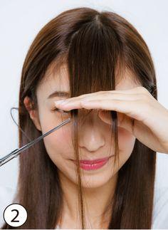 (2ページ目)顔型別・前髪セルフカットで小顔! 切り方&スタイリング術も伝授♪|non-no Web|ときめくおしゃれを毎日GET!
