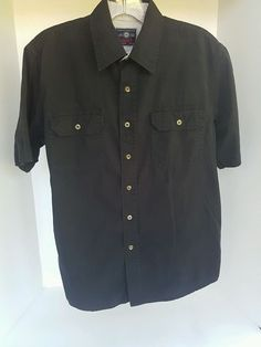Men's Wrangler Black Short Sleeve Button Shirt 100% Cotton Small S | Clothing, Shoes & Accessories, Men's Clothing, Casual Shirts | eBay!