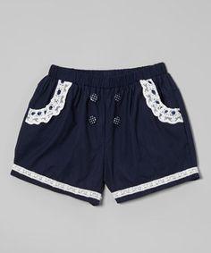 Look at this #zulilyfind! Blue Bow Shorts - Infant, Toddler & Girls by Richie House #zulilyfinds