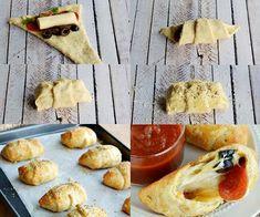 mini #calzone #pizza rellena ¿Te gustaría hacer estos mini-calzone? puedes usar masa comprada fresca o puedes hacer la masa soufflé del blog. Se rellenan con el topping de pizza que más te guste... sigue leyendo la #receta aquí >> http://elrincondelaurag.com/sorpresas-de-pizza/