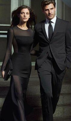 Ashley Greene for DKNY all black #style #fashion