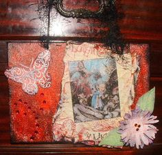 By Debbie Buckland - alice in wonderland canvas panel another idea for jessica