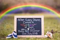 Baby Shoes Rainbow Baby Announcement - New Site Rainbow Baby Onesie, Rainbow Baby Quotes, Baby Sonogram, Pregnancy After Miscarriage, Creative Pregnancy Announcement, Pregnancy Announcements, Pregnancy Info, Rainbow Baby Announcement, Rainbow After The Storm