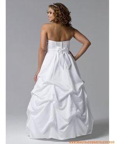 schönes Brautkleid  aus Satin  A-Linie