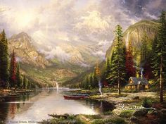 Thomas Kinkade - Mountain Majesty  1998