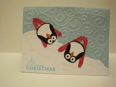 Skiing penguins using Owl punch - Splitcoaststampers
